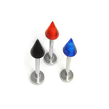 Stainless Steel Labret with Colored Cone