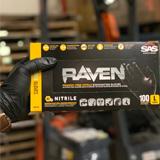 Black RAVEN Nitrile Gloves