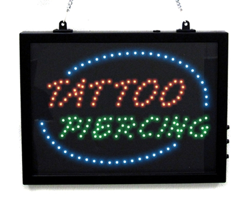 TATTOO & PIERCING Store Sign
